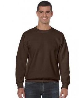 Sudadera cuello redondo marrón chocolate