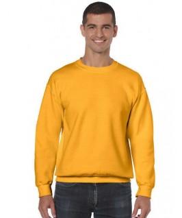 Sudadera cuello redondo amarillo oro