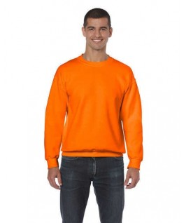 Sudadera cuello redondo naranja fluorescente