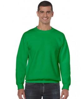 Sudadera cuello redondo verde hierba