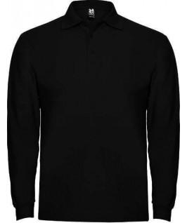 Polo manga larga negro