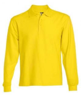 Polo manga larga amarillo