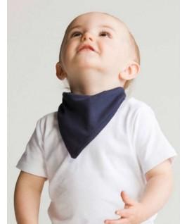 Babero bandana blanco con azul marino