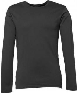 Camiseta interlock gris oscuro