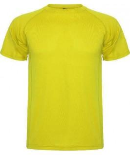 Camiseta técnica amarilla