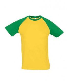 Camiseta amarilla con verde