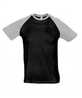 Camiseta negro con gris jaspeado