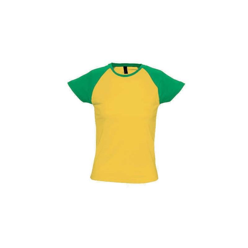 Camiseta amarillo con verde