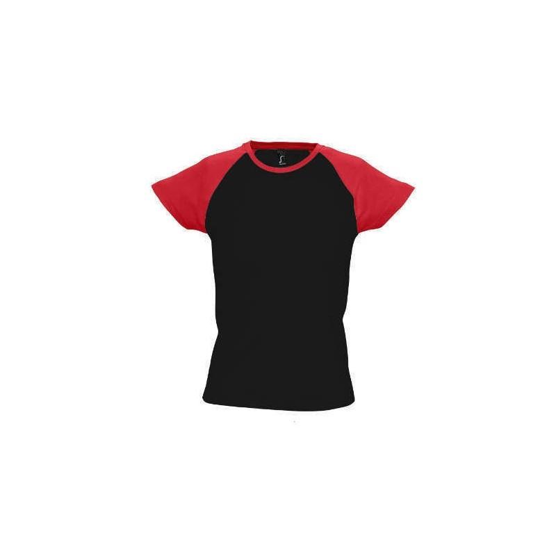 Camiseta negra con rojo