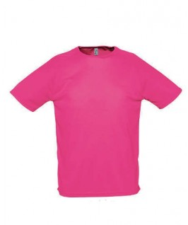 Camiseta técnica rosa fluorescente
