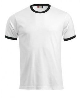 Camiseta blanca con negro