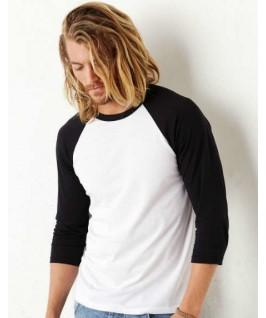 Camiseta baseball blanco con negro