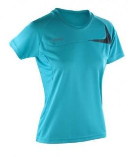 Camiseta turquesa con gris