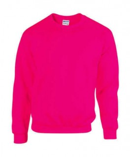 Sudadera cuello redondo rosa fluorescente
