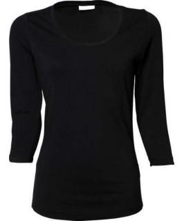 Camiseta manga 3/4 negra