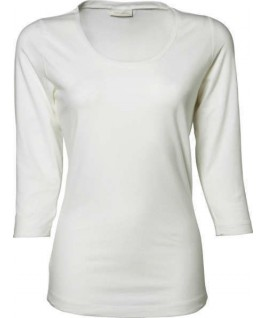 Camiseta manga 3/4 blanca