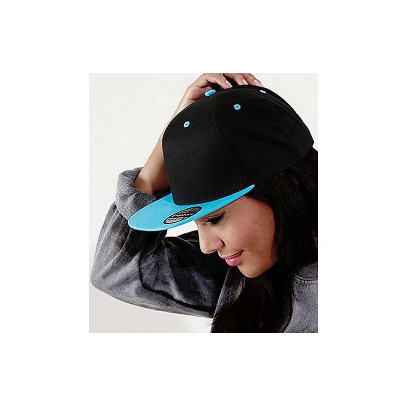 Gorra Snapback negra con turquesa