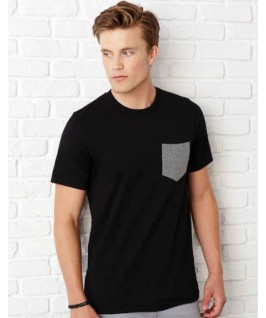 Camiseta negra con gris jaspeado