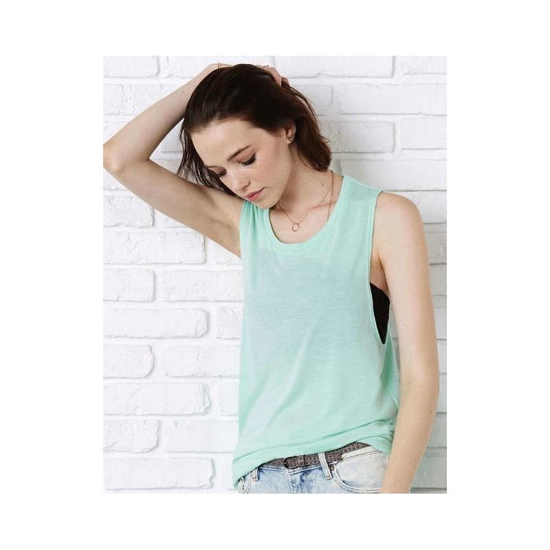 Camiseta tirantes verde pastel