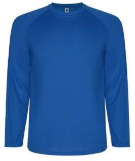 Camiseta técnica manga larga azul eléctrico