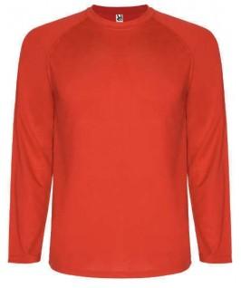 Camiseta técnica manga larga rojo