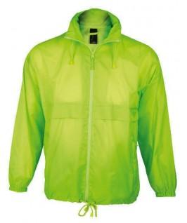 Chubasquero verde fluorescente