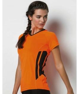 Camiseta naranja fluorescente