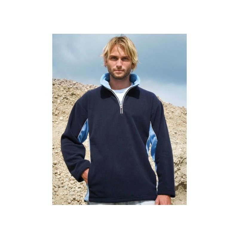Jersey Polar azul marino con azul cielo