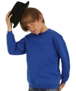Sudadera cuello redondo azul eléctrico