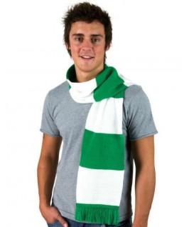 Bufanda verde con blanco