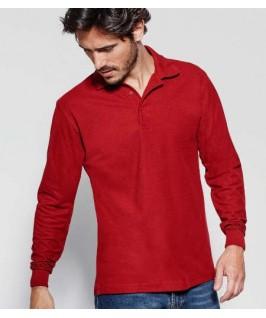 Polo manga larga rojo