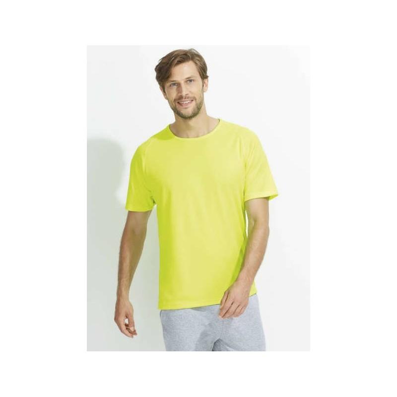Camiseta técnica amarillo fluorescente