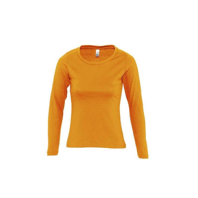 Camiseta manga larga naranja