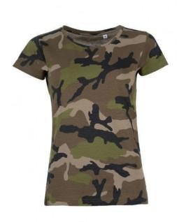 Camiseta Mujer camuflaje