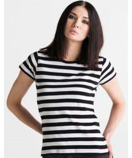 Camiseta a rayas negro con blanco