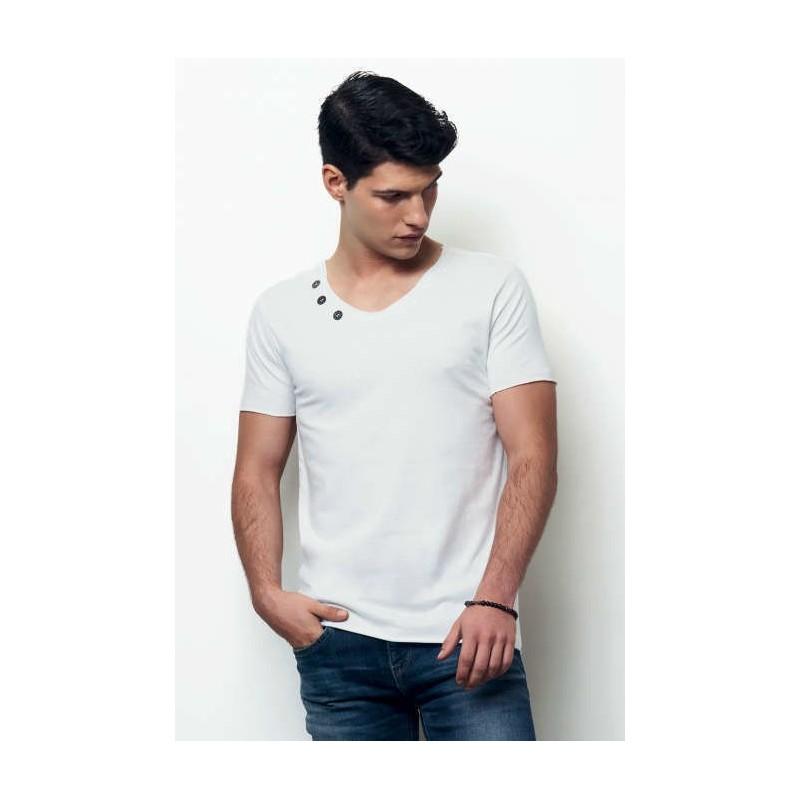 4eee466e3732f camiseta manga corta hombre con botones button de nath