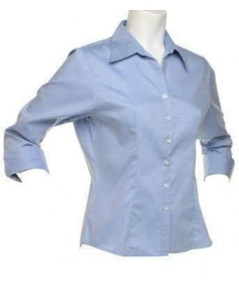 Camisa manga 3/4 azul cielo