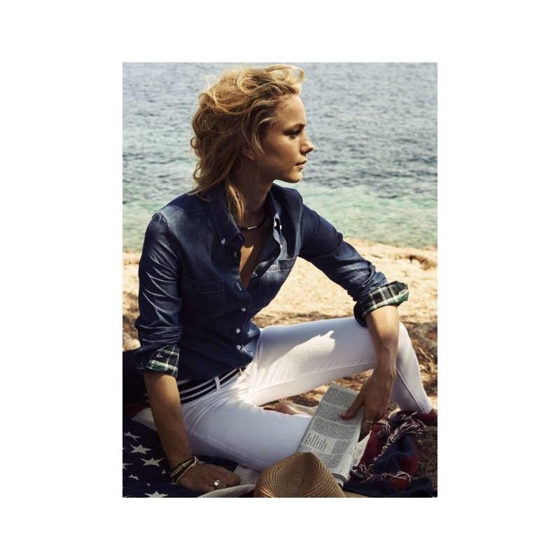 1d6481be15 Camisa Vaquera Manga Larga mujer Jupiter de James Harvest en la ...