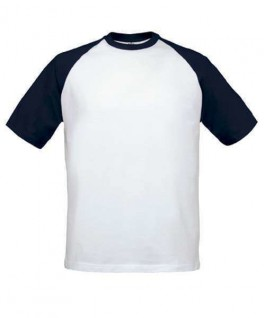 Camiseta blanca con azul marino