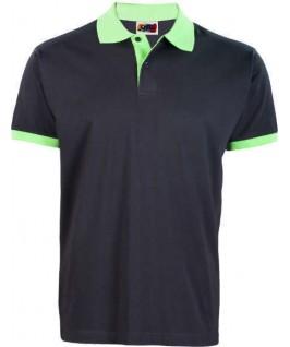 Polo negro con verde pistacho