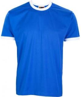 Camiseta ringer azul eléctrico con blanco
