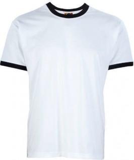 Camiseta ringer blanco con negro