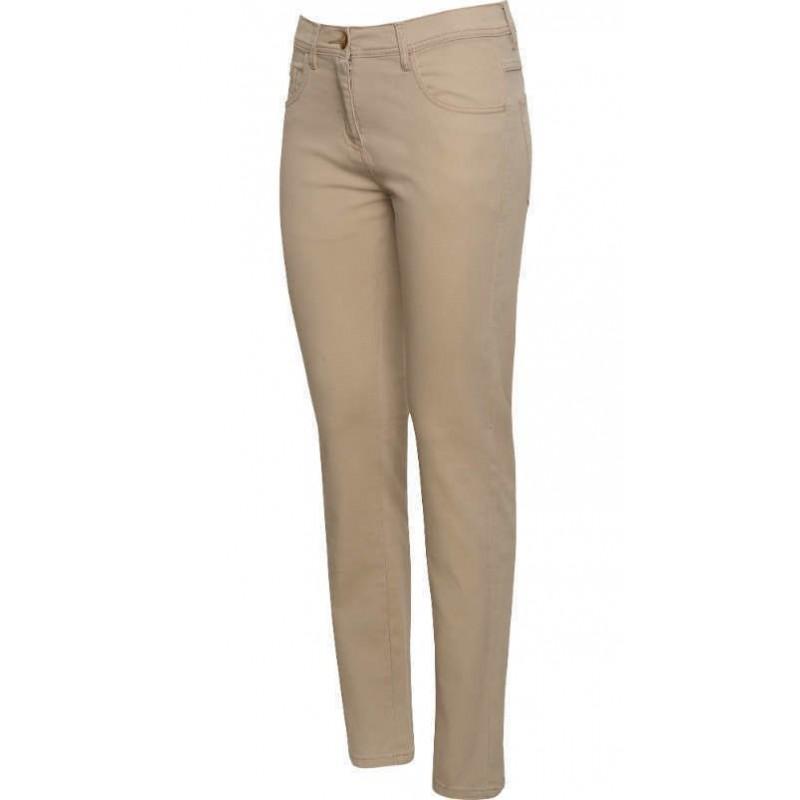 Pantalón largo marrón piedra