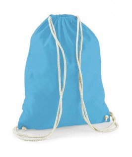 Bolsa / Mochila algodón azul pitufo