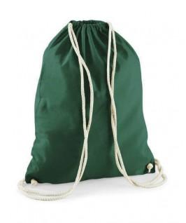 Bolsa / Mochila algodón verde botella