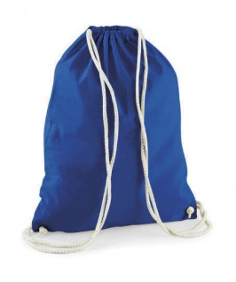 Bolsa / Mochila algodón azul eléctrico