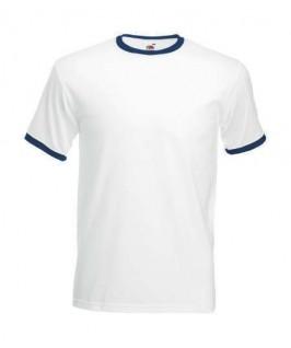 Camiseta ringer blanco con azul marino