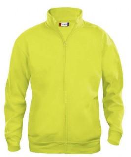 Sudadera cardigan amarillo fluorescente