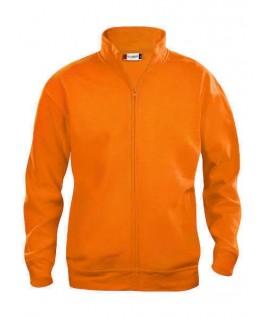 Sudadera cardigan naranja fluorescente