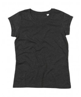 Camiseta rock & roll gris jaspeado oscuro